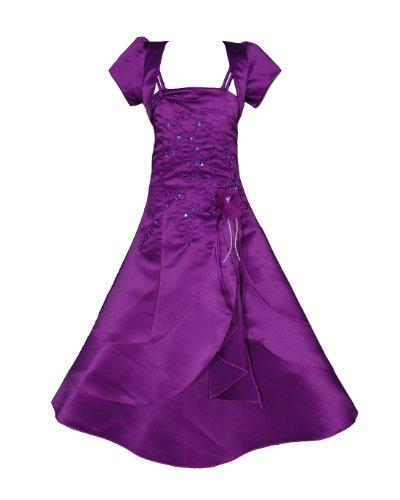 Cinda Mädchen Brautjungfer / Heilige Kommunion Kleid Violett 122-128