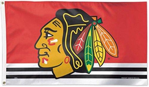 Flagge NHL Chicago Blackhawks - 90 x 150 cm, + gratis Aufkleber, Flaggenfritze®