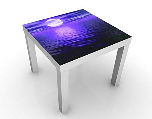 Apalis 46098-276676 Design Table Deep Moon, 55 x 55 x 45 cm, Bleu, 45x55