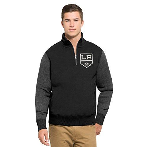 47 Brand NHL Herren Triple Deckung 1/4-Zip Sweatshirt, Herren, Jet Black, Large Champ Zip Hoodie