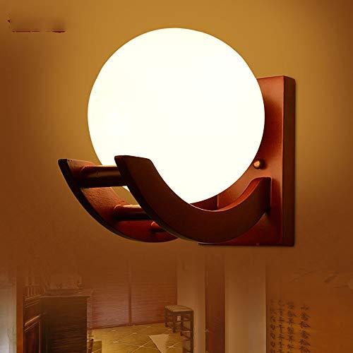 Neuheit Glaskugel LED Wandleuchten Modern wandleuchte innen,Naturholz Skelett Halterung wandleuchten wohnzimmer Schlafzimmer Gang Glaskugel Moderne Wandleuchte