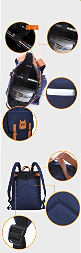 Outdoor peak Herren hochwertig Oxford Handtasche Studententasche Wanderrucksack Laptoptasche Trekkingrucksack Reisetasche Sportrucksack Schulrucksack Bergsteigen Camping Blau