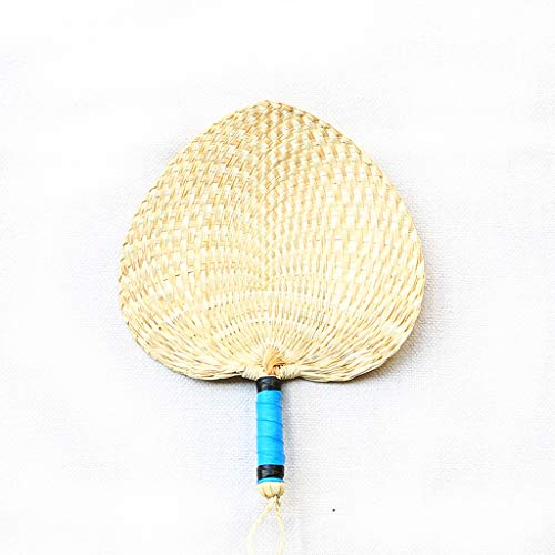 XUE-1 Hand Fan Chinese Style Handcrafted Weaving Fan Palm Leaf Fan Brown,A7