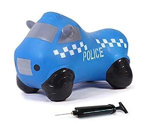 Jamara 460455-Coche saltarín Police Truck con Bomba-Mejora el Equilibrio y Capacidad motora, Espejos Laterales como Soporte, Peso sostenible 50 Kg, Color Azul (460455)
