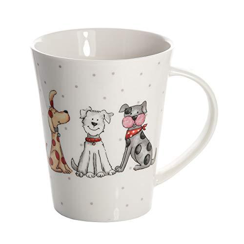 SPOTTED DOG GIFT COMPANY Taza mug de cerámica Porcelana para café té, Taza Desayuno Originales Grandes Decorativas diseño de Perro Regalo para Perros y Amante de los Animales