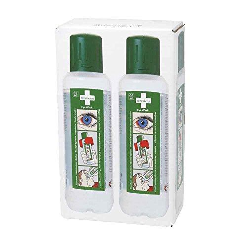 Cederroth Augendusche, Augenspülflasche, Eye wash, integrierte Augenmuschel, 2x 500 ml