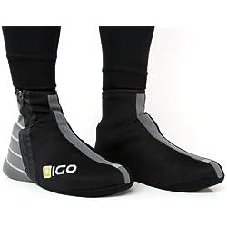 Eigo cubrezapatillas de neopreno, color negro, talla XL