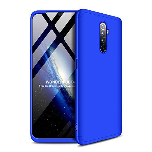 FaLiAng Cover Oppo Realme X2 PRO, 3 in 1 Staccabile Anti-Graffio Hard PC Custodia, 360° Tutto Il Corpo Anti-Urto Protettiva Cover per Oppo Realme X2 PRO (Blu)