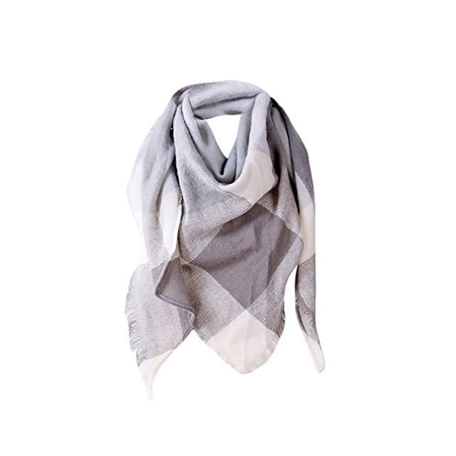 5c93dea8eeda foulards, Tefamore Femmes châle en cachemire automne écharpe en laine à  carreaux écharpe (140 ...