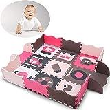 WDXIN Baby Spielmatte Spielteppich Krabbeldecke Umweltschutz Baby Puzzle Zaun Gamepad Verdicken Schaum Nähen Bodenmatte.