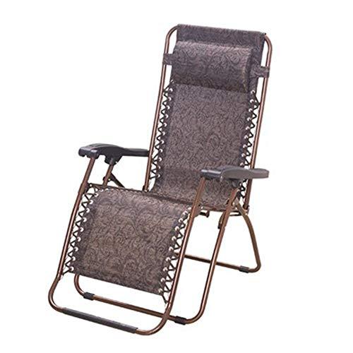 Folding chair Schwerelosigkeit Stuhl, Komfortables Büro, Außen Lehnstuhl, Mittagspause, Nap, Strandkorb, 440 Pfund, Dunkler Kaffee