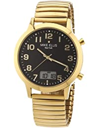 Mike Ellis New York Herren-Armbanduhr XS Analog - Digital Quarz Edelstahl beschichtet M2612AGM/2