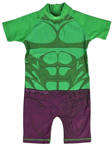 Lora Dora, Jungen-Schwimmanzug/Strandkostüm mit Sonnenschutz Gr. 2-3 Jahre, Hulk - Novelty (Jungen Für Billig Anzüge)