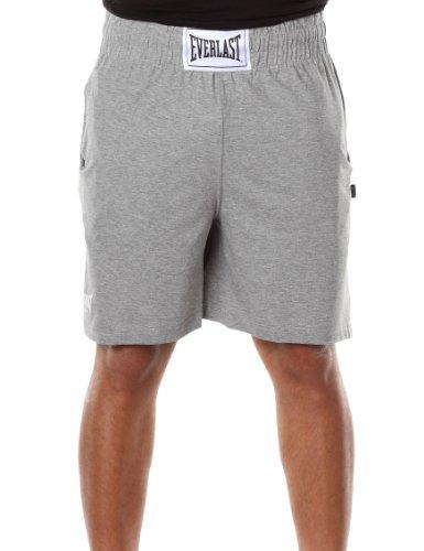 Everlast Bert - Pantalón Corto de Boxeo para Hombre Talla XXL, Color Blanco Gris Gris Talla:XXL