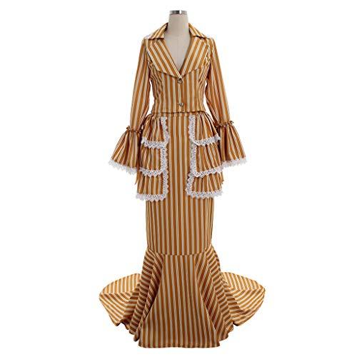 COUCOU Age Viktorianisches Rokoko Kleid Bustle Rock Renaissance Kostüm Damen Plus Größe