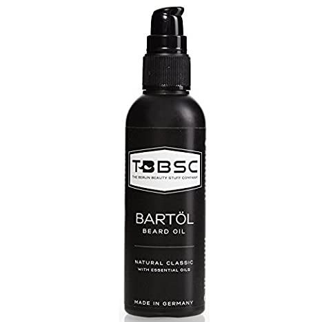 TBBSC Beard Oil 100 ml with Argane Oil (35%), grape seed oil, almond oil, and vitamins E & K