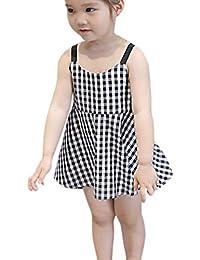 6be28e7b8 Brightup Verano Bebé Chicas Imprimir Vestido de Princesa Vestimenta Sin  Mangas Vestidos para Niñas Casual Vestir