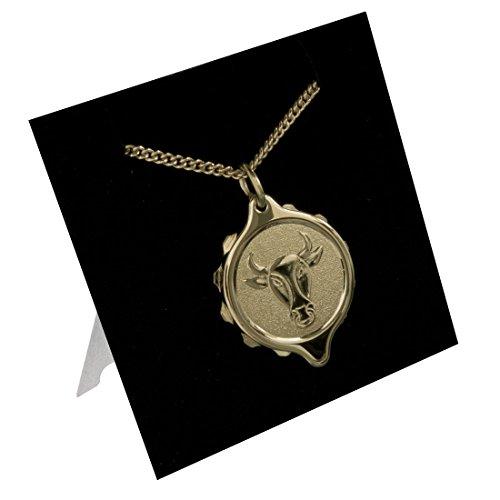 SOS Talisman 222311 Stier Medizinisches Notfall-Halskette, Notfall-Anhänger, vergoldet, Diabetes, Epilepsie, Allergie, wasserdicht. (Medic Alert Gold)