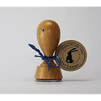 Liebe Grüße vom Osterhasen Stempel (rund) 40mm Durchmesser