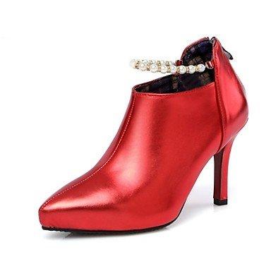 Wuyulunbi @ Femmes Chaussures Automne Nouveauté Bottes Talon Stiletto Pointu À Lacets Pour Robes De Mariée Rouge Argent Foncé Gris Or Us9.5-10 / Eu41 / Uk7.5-8 / Cn42