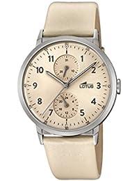 Lotus Watches Reloj Multiesfera para Unisex de Cuarzo con Correa en Cuero 18509/2