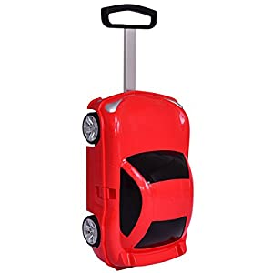Costway Kids Luggage Hand Shell Suitcase Car Wheeled Trolley Case Bags School Travel New