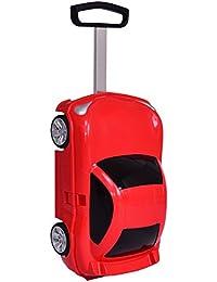 b8317b951 Niños Viaje Equipaje Maleta Con ruedas en la forma de coche juguete  divertida 2 colores