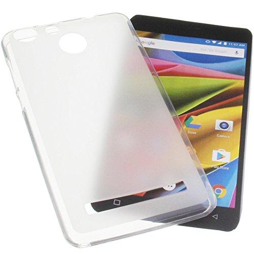 foto-kontor Tasche für Archos 55b Cobalt Lite Gummi TPU Schutz Handytasche transparent weiß
