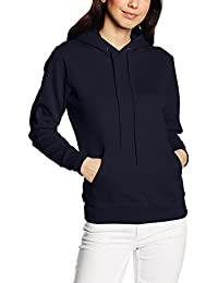 Fruit of the Loom Women's Pull-Over Classic Hooded Sweat, Deep Navy, 8 (Manufacturer Size:X-Small)