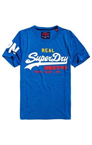 Superdry T-Shirt Herren Vintage Logo Tri Tee Techno Blue Marl, Größe:M (Blaue Logo-shirt)