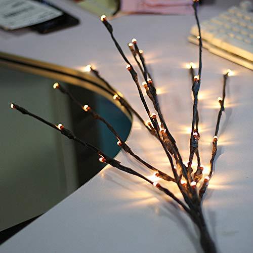 Bloomwin rami luci, 3pcs 20led creativa luce decorativa 77cm 1.2w illuminazione decorativaa a batteria per finestra interna, vetrina, vaso, tavola, cassettiera, salotto