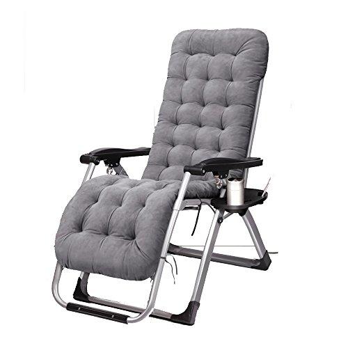FEIFEI Fauteuils inclinables Sun Lounger Coussin Patio Jardin Chaise longue Recliner Lounge Coussin Épais Coussin Extérieur Pliant (Couleur : B)