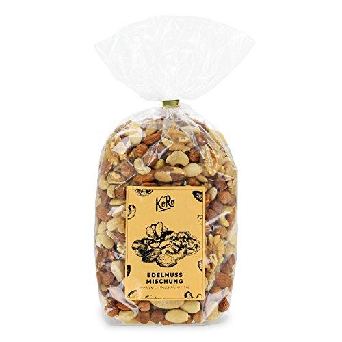 KoRo ● Nussmischung ● 1kg ● Edle Nüsse ● Mandeln ● Paranüsse ● Cashewkerne ● Walnüsse ● Haselnüsse ● Ohne Zucker und Salz ● - Pistazien-cashew