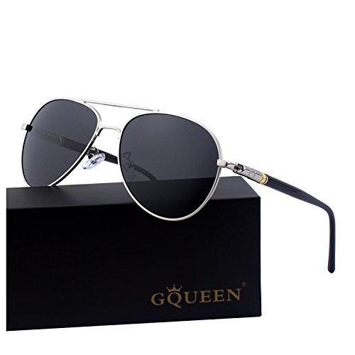 GQUEEN Klassische Pilotenbrille Polarisierte Sonnenbrille MTZ9