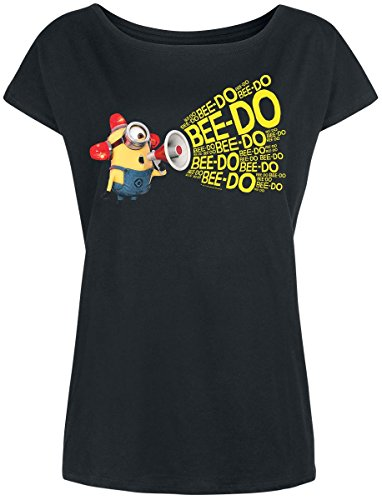 Minions Bee Doo Girl-Shirt schwarz Schwarz