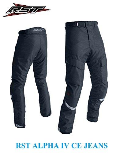 Pantalon de moto adulte 2018 RST 1727 ALPHA IV CE JEAN PANTALONS moto scooter Quad croisière étanche course Touring Sports Armure Protection Jean Pant Noir - Noir - M/32