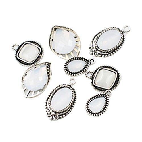 Sharplace 8Pcs Pendentif Charme Motif Mixtes DIY Embellissement De Bijouterie Bracelet
