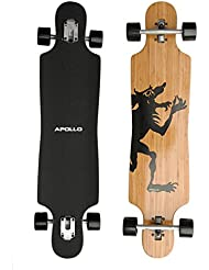 'Hawaiian Wulff Twin Tip – Drop Thru Longboard | Brand New Complete tarjeta 2014 from the Trendy and Exclusive Label Apollo | Stylish tarjeta Made Of Canadian maple| Length: 101.8 cm/40 – width: 24 cm/9,5 ""