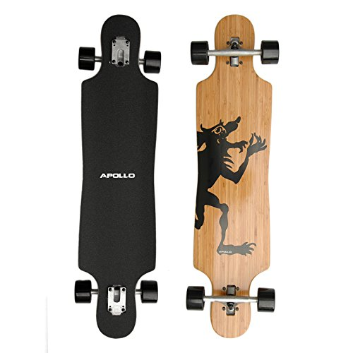 Hawaiian Wulff Twin Tip - Drop Thru Longboard | Brand new complete board 2014 from the trendy and exclusive label Apollo | Stylish board made of Canadian maple| Length: 101.8 cm / 40'' - Width: 24 cm / 9.5''