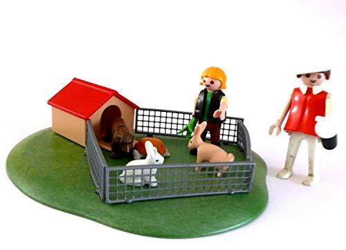 playmobil ® - Mutter mit Kind Hand Hase Schildkröte mit Hundehütte und Zaun
