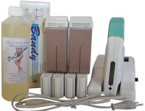 Epilwax Completa Kit Depilazione con Cera de chocolate con Base Modulare - Incluye 6 Cartuchos de Cera...