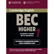 Cambridge BEC Higher 1: Practice Tests from the University of Cambridge Local Examinations Syndicate (BEC Practice Tests)