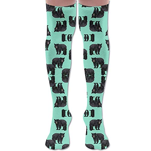 ouyjian Bears Bears Bears On Mint (1761) Athletic Tube Stockings Women's Men's Classics Knee High Socks Sport Long Sock -