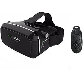 COOVOO VR Shinecon Casque Réalité Virtuelle+Télécommande Bluetooth,VR  Headset Lunettes 3D pour Films 30b0d76e1af0
