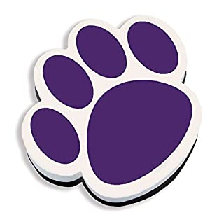Ashley Productions ASH10005 Paw Magnetic Whiteboard Eraser, Purple