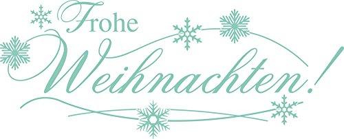 GRAZDesign 830014_57_055 Wandtattoo Tattoo Aufkleber für Weihnachten Schriftzug Frohe Weihnachten Schnee (141x57cm//055 mint) (Mint Schnee)