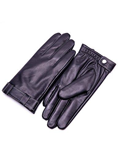 YISEVEN Herren Touchscreen LederHandschuhe echtes Schaffell Leder Winter Handschuhe mit Warm Gefüttert