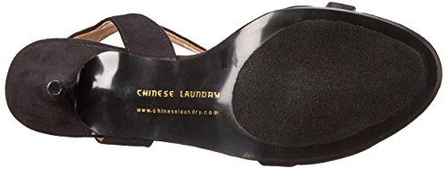 Chinese Laundry Ravish Offener Spitze Wildleder Stöckelschuhe Black