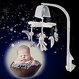 EEvER Ever Plüsch-Spielzeug, Puppen, Stern, Mond, Musik, drehbar, zum Aufhängen, Spielzeug für Babys, Neugeborene