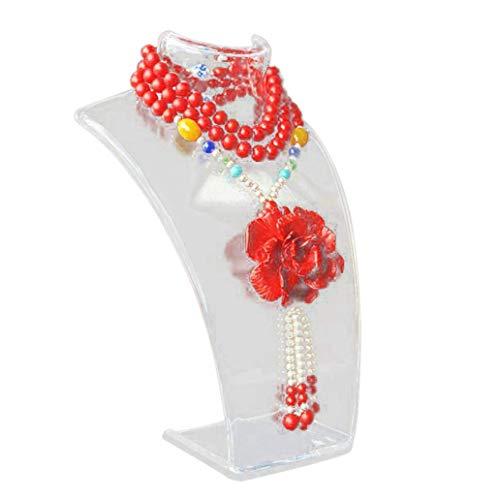 TLZR Soporte de joyería de maniquí-Soporte de Busto de exhibición de joyería para Accesorios de joyería, Cadena de Collares, Gargantilla, Colgante Transparent
